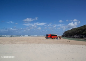 Strand von Fraser Island Australien