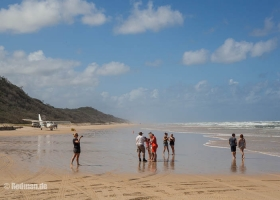 Hier landen auch Flugzeuge Fraser Island Australien