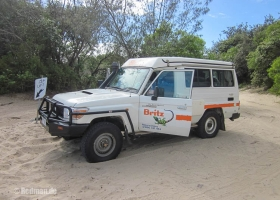 Fraser Island Britz Leihfahrzeug