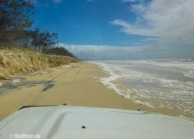 Ankunft in Fraser Island