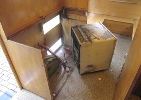 Der alte Sibir Kühlschrank