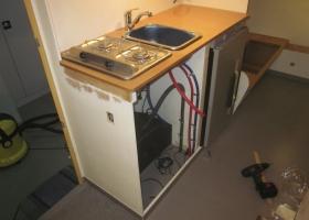 Aufbau der neuen Küchenzeile