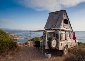 Unser Landy in Sardinien
