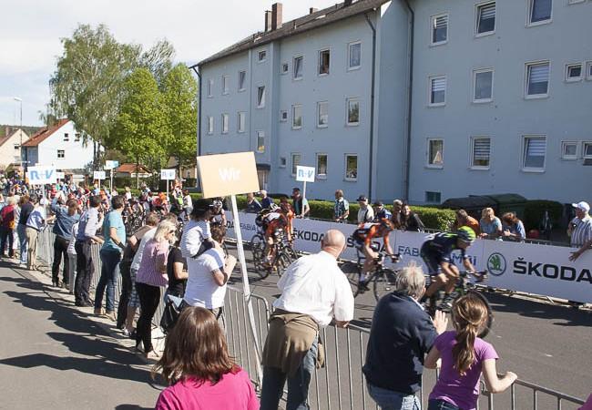 Bayern Rundfahrt 2015 Zieleinlauf Lämmerstraße