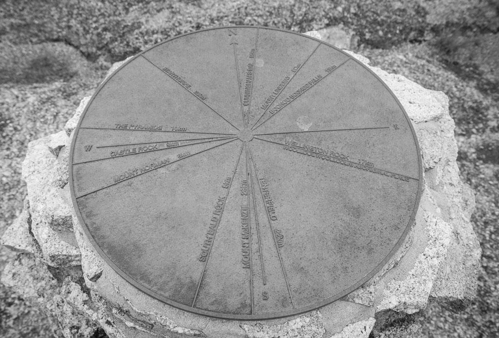 Gipfeltafel Bald Rock
