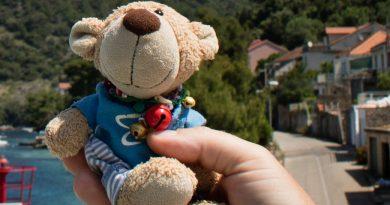 """Unser Reise-Masskottchen Teddy """"Plömmelchen""""!"""